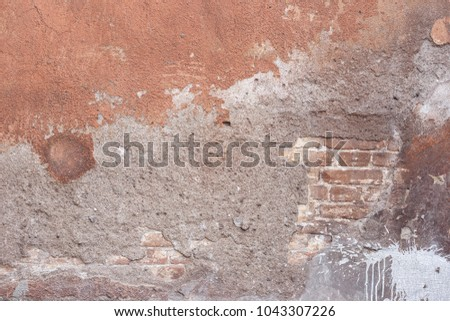 cracked concrete vintage wall background,old wall #1043307226