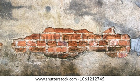 cracked concrete vintage wall background,old wall #1061212745