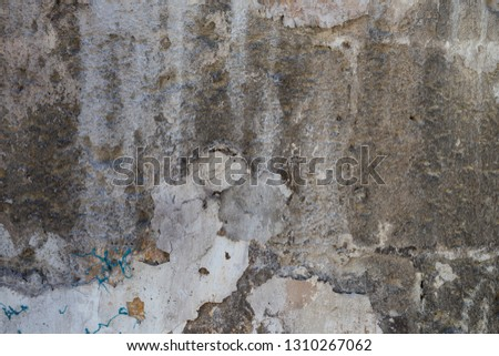 cracked concrete vintage wall background,old wall #1310267062