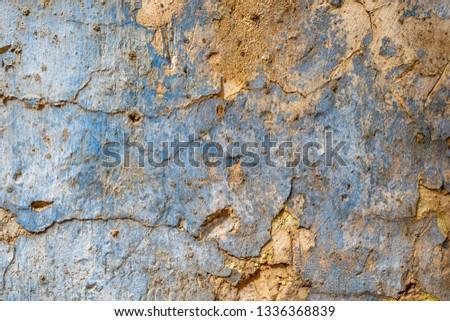 cracked concrete vintage wall background,old wall #1336368839