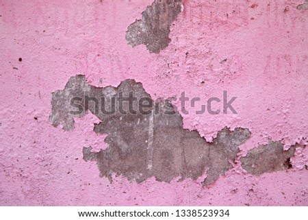 cracked concrete vintage wall background,old wall #1338523934
