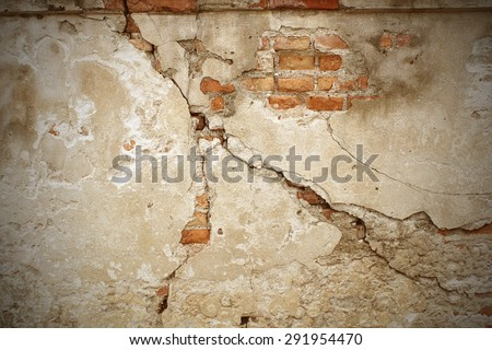 cracked concrete vintage wall background,old wall #291954470