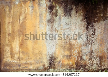 cracked concrete vintage wall background,old wall #614257337