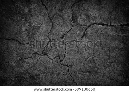 Stock Photo cracked concrete wall covered with gray cement surface as background