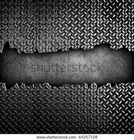 cracked diamond metal plate
