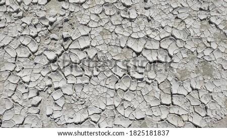 Cracked Dry White Sand Texture in Lake Salda Stok fotoğraf ©