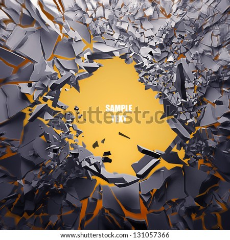 Cracked earth abstract background High resolution 3d render