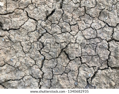 Cracked earth, cracked soil. texture of grungy dry cracking parched earth #1340682935