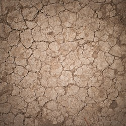Cracked Ground, Earthquake Background, Texture