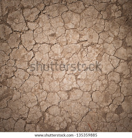 Cracked Ground, Earthquake Background, Texture #135359885