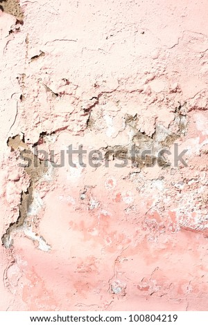 cracked grunge old painted wall background