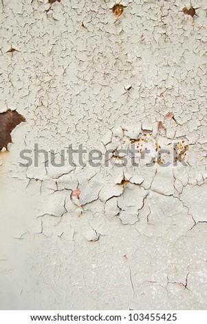 Cracked metal texture