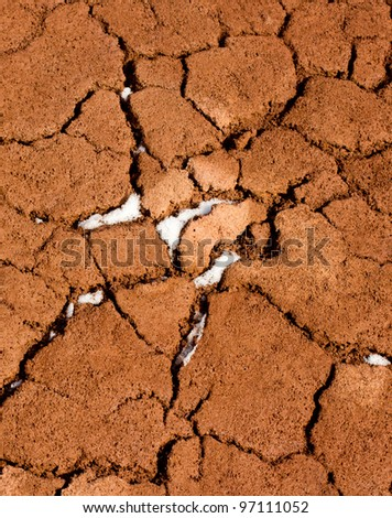 Cracked red earth - pattern / background