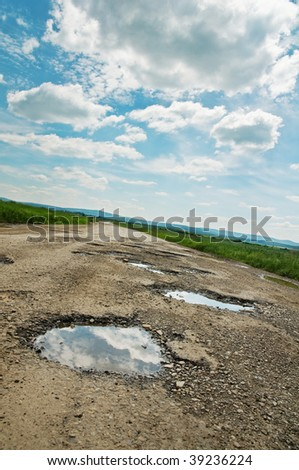 cracked  road