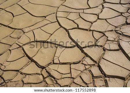 Cracked soil after flood