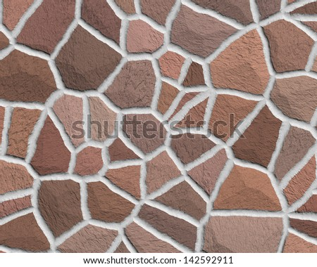 Cracked stone seamless background - stock photo