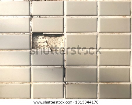 Cracked tile on walls,Old wall,Old wall background,Old wall texture #1313344178
