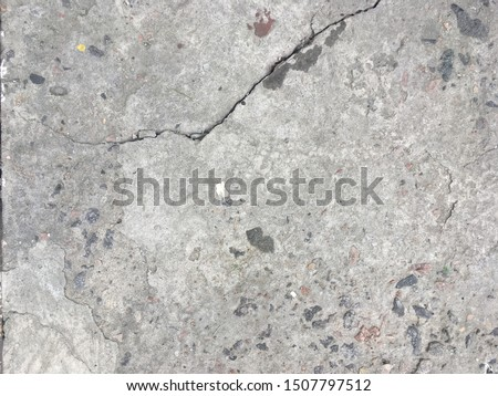 Cracked wall. Crack. Wall with crack. Cracked beton. #1507797512