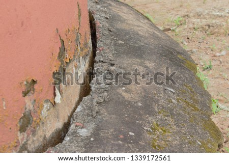 Cracked wall foundation #1339172561