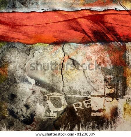 Cracked wall, underground grunge background