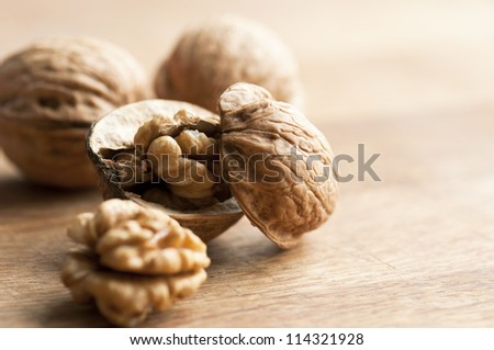 Cracked walnut