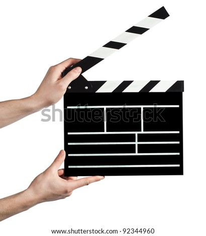 cracker for the cinema on a white background - stock photo