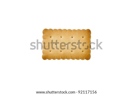 Cracker on white background