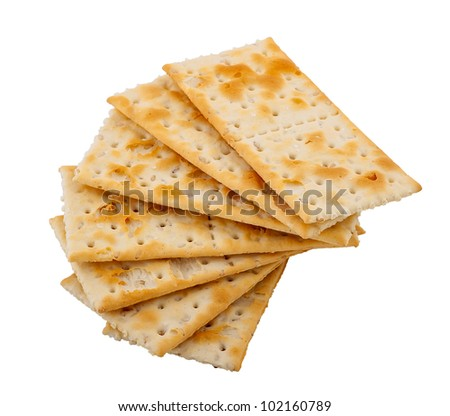 cracker with a sesame on a white background