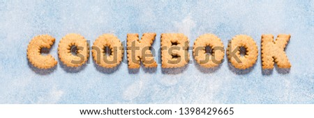 Crackers Arranged as a Word Cookbook, banner