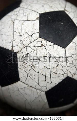 Crackled soccer ball.