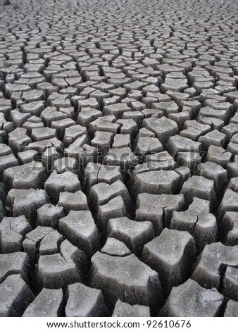 Crackling Dry Earth From Drought
