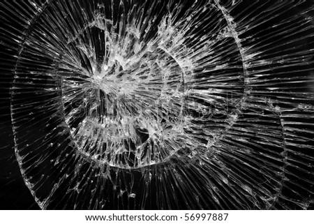 Cracks  glass  broken