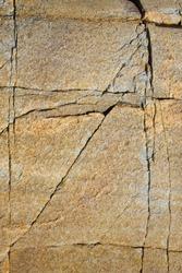 Cracks in granite rock.
