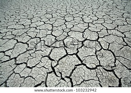 cracks in the land in rural areas, northern China