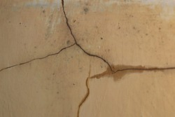 Cracks in the walls and water remover made the paint quality plummet