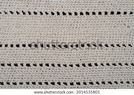 Craft knitting with bamboo crochet, set with knitting needles. Hobbies, handicrafts and handmade napkins, doily, serviette,overlay,table-napkin. Empty copy space. Stock photo ©