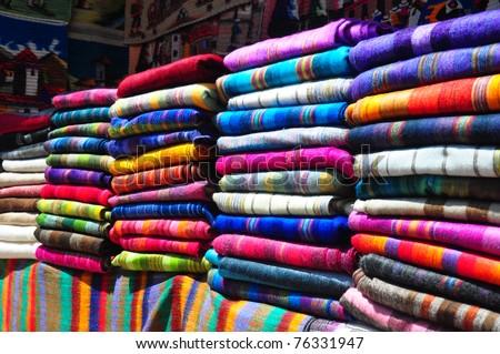 Craft market stall, Ecuador