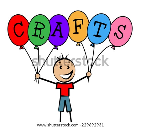 Crafts Balloons Representing Art Sculpture And Child