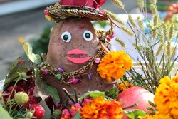 Crafts made from potatoes and natural materials - potatoes in the image of