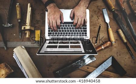 Craftsman Profession Occupation Pursuit Skilled Concept Foto d'archivio ©