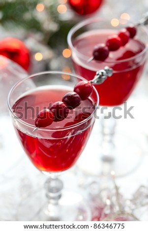 cranberry drink for Christmas