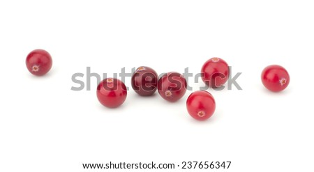 Cranberry isolated on white background closeup #237656347