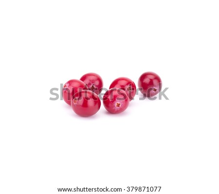 Cranberry isolated on white background closeup #379871077