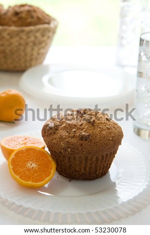 Cranberry Orange pecan muffins wit h mandarin oranges