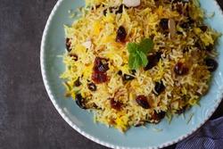 Cranberry Rice Pilaf /Persian Jewled rice