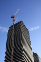 Crane and new hotel in Las Vegas