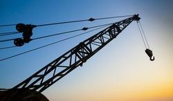 Crane Arm at Sunset