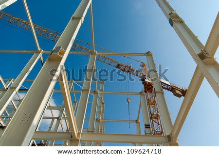 Crane Construction of industrial building