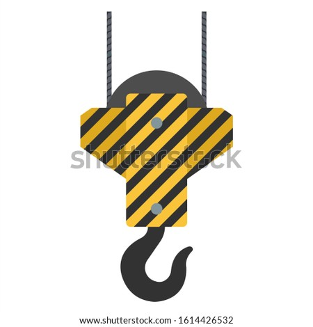 crane hooks. A set of hooks in a flat style for web design or printing, etc