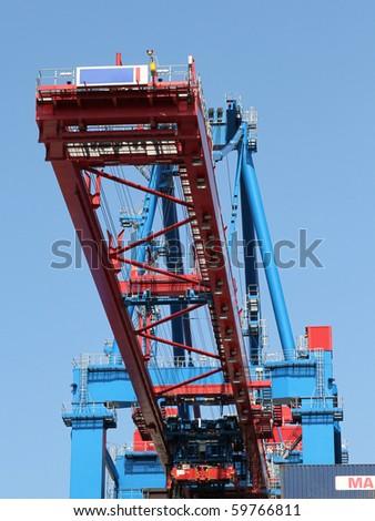 crane in container terminal of Hamburg